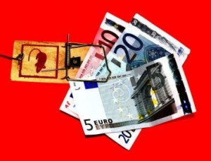 Bankräuberin Kanzlerin Merkel